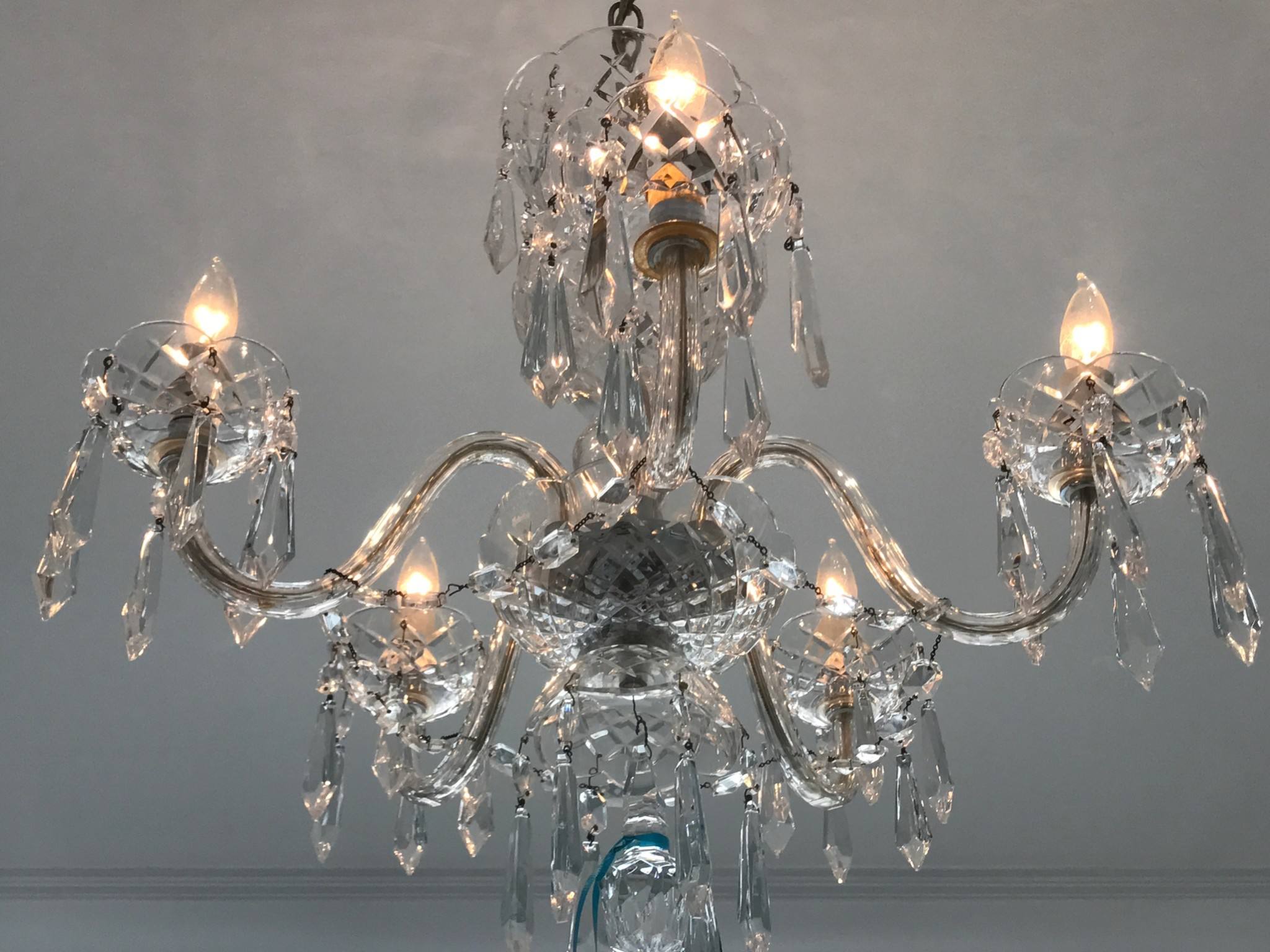 Waterford 5 arm comeragh chandelier for sale at watercress waterford 5 arm comeraugh chandelier arubaitofo Image collections
