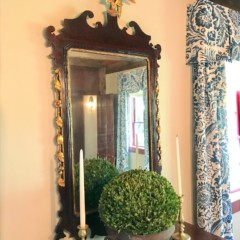 19thc Beautiful Chippendale Wood And Gilt Centennial Mirror