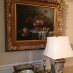 bouquet-of-flowers-gold-framed-art