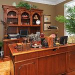 hooker-executive-desk-and-credenza-and-bookcase