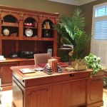 hooker-executive-desk-with-bookcase-and-credenza