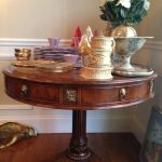 leather-top-round-console-table-and-china
