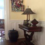 mahogany-game-table-lamp-with-mesh-shade