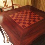 mahogany-checkerboard-game-table