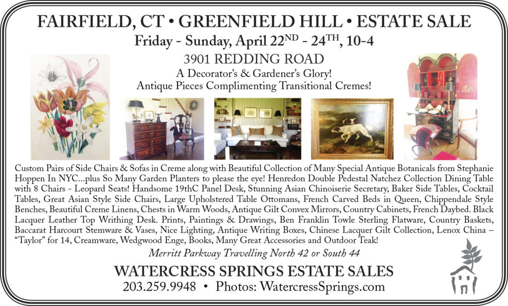 watercress springs estate sales sample newspaper ad fairfiled color
