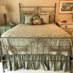 murry-iron-works-queen-bed-custom-bedding-and-side-chests