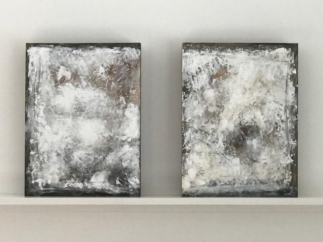 Pair of Modern Oil Paintings