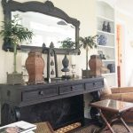 console-table-and-mirror-with-carved-palm-trees-decoration
