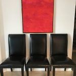 6 Leather Dining Chairs by Lynn Scalo Design