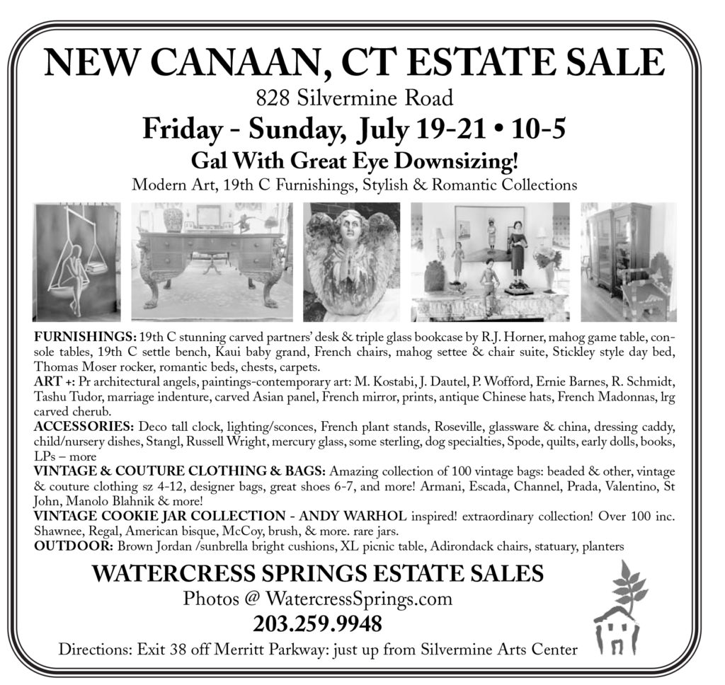 Watercress Springs Estate Sales Sample Newspaper Ad New Canaan Silvermin