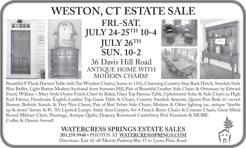 Watercress Springs Estate Sales Sample Newspaper Ad Weston