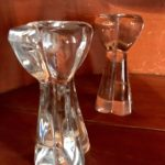 Pair Of Gorgeous Baccarat Crystal Approx 6in Candlesticks