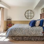 Queen Size Bed And Headboard And Carpet
