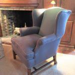 Wing Chair From The Dd In Ralph Lauren Fabirc