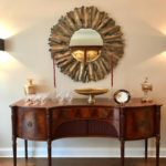 Arthur Brett Sideboard And Burst Mirror