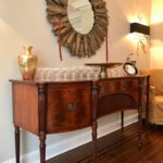 Arthur Brett And Sons Sideboard (72, 35, 24)and Decorative Burst Mirror