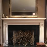 Gold Branch Fireplace Sreen And Gilt Mantle Mirror