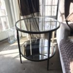 Iron, Glass And Mirrored Side Table