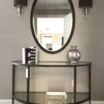 Iron And Glass Console With Coordinating Ova Miirror