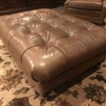 Leather Ottoman And Carpet