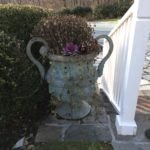PAIR Of Outdoor Iron Planters