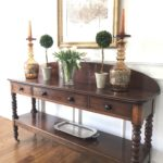 Charming Cherry Console 73 X 45 X 19 & Pair Of French Amber Jardinaires
