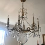 Crystal Chandelier Approx 31in W X 4ft H