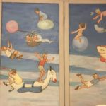 Hand Painted Childrens Wall Screen DETAIL