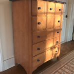 Tall And Long Cherry Chests With Blue Tops By MAINE COTTAGE Furn