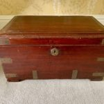 Antique Box With Brass Hardware