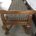 Bench With Cane Seat Cushion