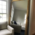 French Gilt Mirror With Beautiful Detail 8 Ft Copy