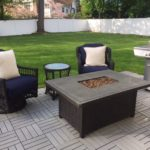 Gas Fire Pit And Pair Of Chairs PATIOCOM