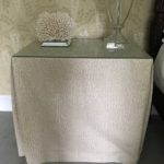 Pair Of Custom Side Tables With Glass Tops