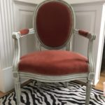 Pair Of French Velvet Chairs