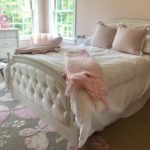 Queen Bed For A Princess Custom Upholstered Headboard And Footboard, Carpet 8 X 10