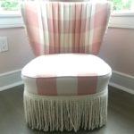 Custom Dusty Pink Slipper Chair