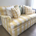 Custome Loveseat In Canary Yellows