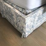 Detail Of Pair Of CUSTOM Upholsterd Beds Queen Size