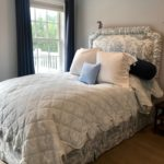 Pair Of Custom Queen Beds , With Side Rails And Footboard And Bedding