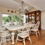 Country French Dining Table And 8 Chairs , Ralph Lauren Breakfront Cabinet (in Three Pieces!)