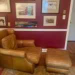 Leather Chair And Ottoman As Is Cond.
