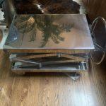 Restoration Chrome Sissor Adjustable Table