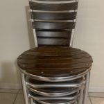 Stack Chrome And Wood Chairs
