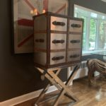 Timothy Oulton Bar Mirrored And Glass Shelving Inside