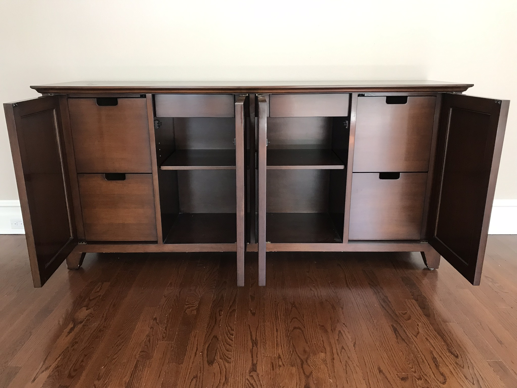 Lovely Mirrored Nancy Corzine Home Office Credenza or Console