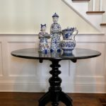 Ebony Entry Table And Asian Style Accessories Table