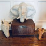 Group Of Paper Mache Animals Offered By Anthroplogy For Hurrican Catrina
