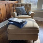 Mohair Baker Chair And Ottoman
