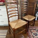 Set Of SIX Lillian August Ladder Back Chairs With Dining Table Or Separate